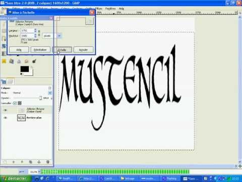 how to make stencil letters in gimp