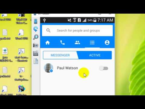 How to appear offline in Facebook messenger Android app