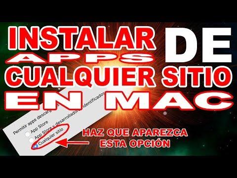 TUTORIAL MAC | INSTALAR APPS DE CUALQUIER SITIO EN MAC OS HIGH SIERRA | OPCION CUALQUIER SITIO