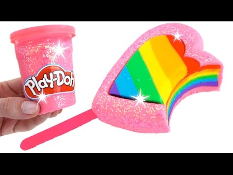 DIY How to Make Play Doh Rainbow Ice Cream Popsicle Fun & Creative for Kids * RainbowLearning