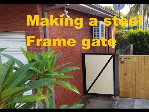 Making a Steel Frame Gate with a Birch Plywood Insert