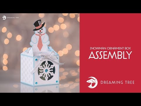 SVG File - Snowman Ornament Box - Assembly Tutorial