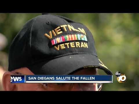 San Diegans salute the fallen