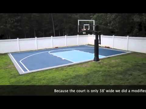 Driveway Basketball Court Line Painting Paint Blacktop Basketball