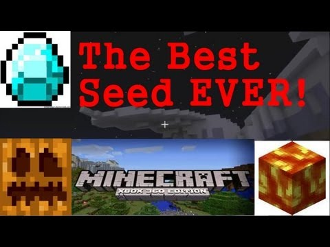 BEST MINECRAFT XBOX 360 SEED EVER? (Diamonds, Pumpkins, Lava, Epic Features)