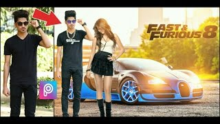 PicsArt Editing Fast and Furious 8 Movie poster || PicsArt latest Editing 2017 || PicsArt Cb Editing
