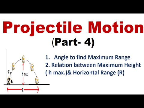 Projectile Motion(Part-4): Finding Angle & Relation btw Range and Height, IIT-JEE physics classes