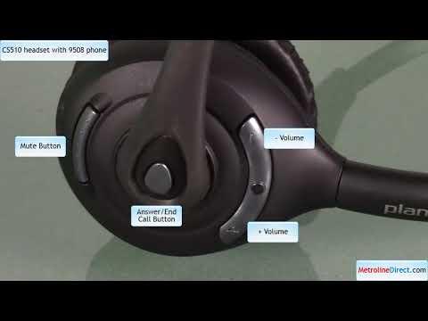 How to Use Plantronics CS510 with Avaya 9508 Deskphone