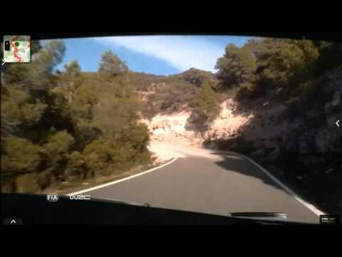 Onboard Kubica rally Catalunya-costa Daurada ss9 2015