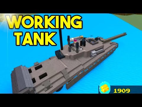 WORKING TANK! (*INSANE*)   Build A Boat For Treasure ROBLOX