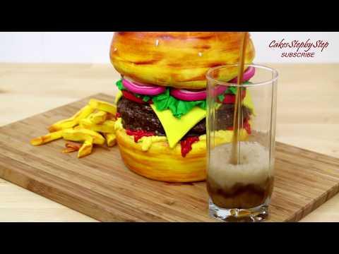 BURGER CAKE How To Make by CakesStepbyStep