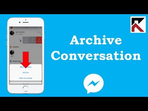 How To Archive A Conversation On Facebook Messenger