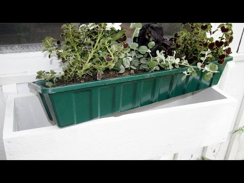 How to Build a Window Flower Box - GardenFork
