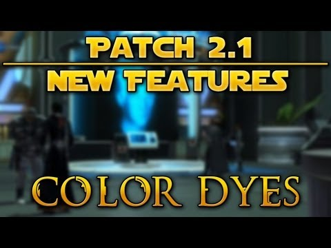 OSW :: Star Wars the Old Republic - Patch 2.1 Features: Color Dyes