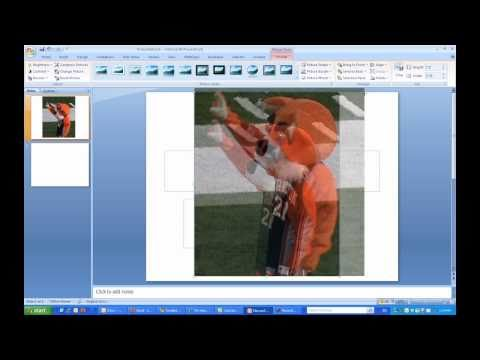 Inserting an Image as the Background in Microsoft PowerPoint 2007