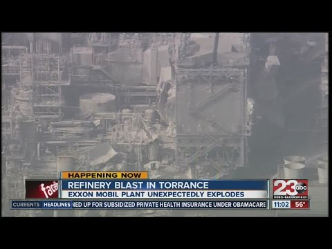 Refinery blast in Torrance, CA