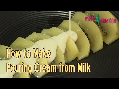 How to Make Pouring Cream from Milk