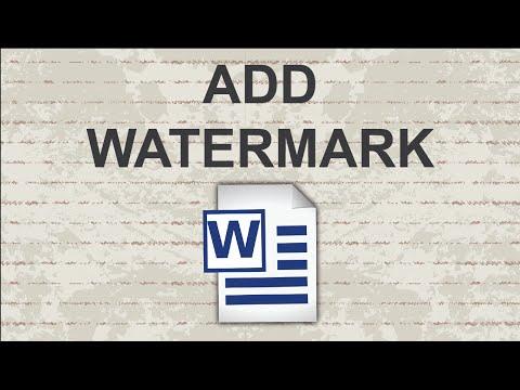 How to insert watermark in Word | 2 Sample