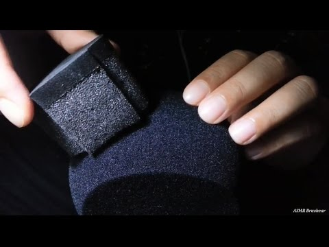[ASMR] Mic Brushing - Sponges on Foam Windscreen