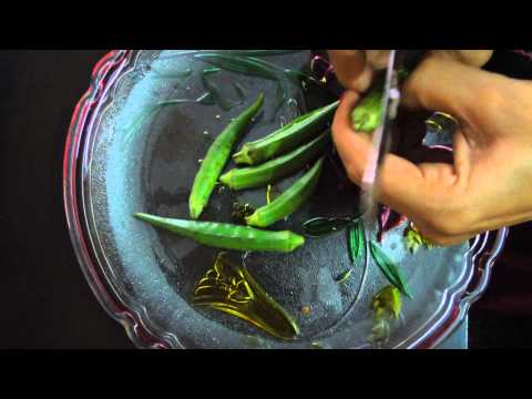 How to Cut Ladyfinger for Stuff Preparation (Cutting for Bhindi Bharwa)