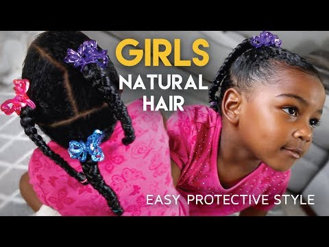 #GirlsCount | QUICK Protective Hairstyle For Girls - Natural Hair