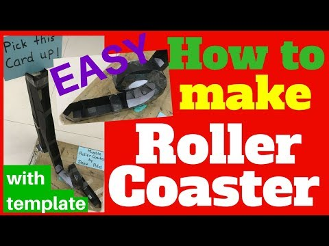how to make a roller coaster out of cardboard from paper diy project  esay homemade