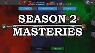 Season 2 Mastery Build   Marvel Contest of Champions