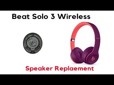 Beats Solo 3 Wireless Left Side Speaker Repair Replacement Fix JoesGE