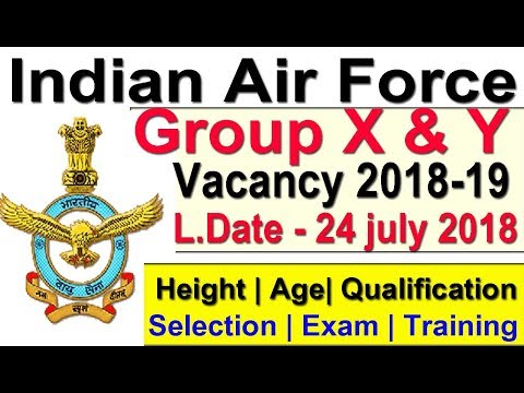 Air Force Group X & Y Vacancy 2018 Apply Online Join Indian Air Force as Airmen in Group X & Y
