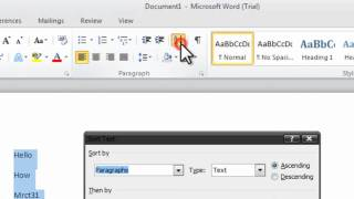 How To Alphabetize Words In Word