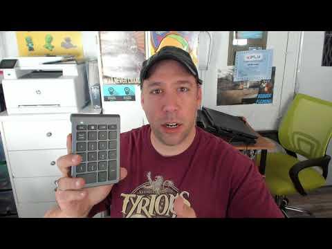 Alcey Wireless 22-Key Numeric Keypad Video Review