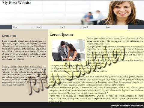 Creating A Basic Website Using Html Css and Div Tags inside Adobe Dreamweaver Cs6
