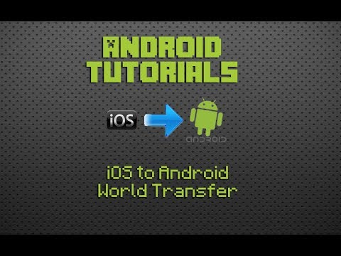 Transfer your iOS Minecraft PE worlds to your Android device!!!
