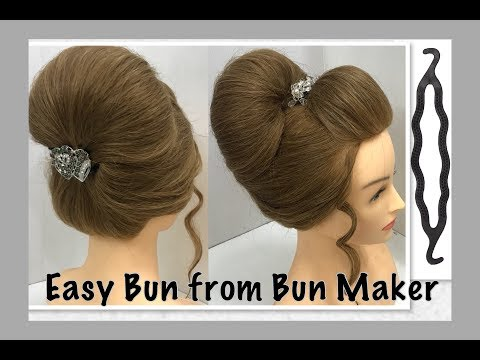 2 Most Beautiful Hairstyles from Bun Maker: Easy Wedding Hairstyles