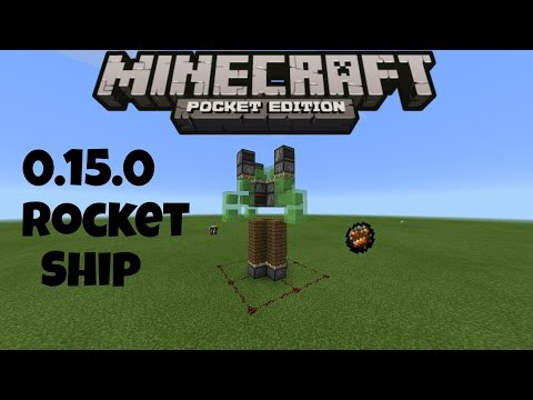 HOW TO MAKE A ROCKET SHIP IN MINECRAFT PE 0.15.0 | 0.15.0 REDSTONE CREATION (NO MODS)