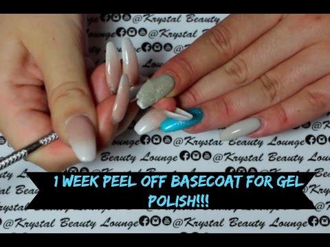 PEEL OFF BASECOAT for gel polish!!!!