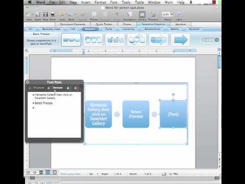Screencast on How to Create A SmartArt Graphic