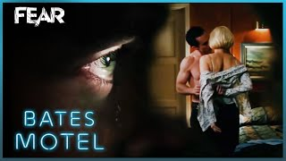 Norman Watches Norma Through a Peephole | Bates Motel