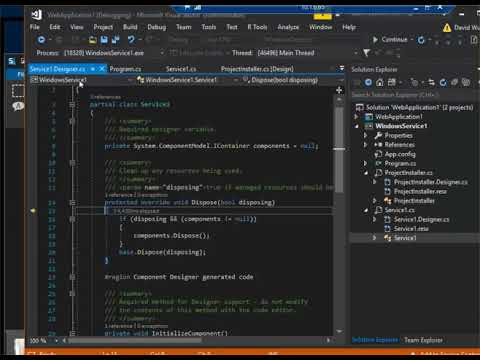 Windows Service Debug with Visual Studio 2017