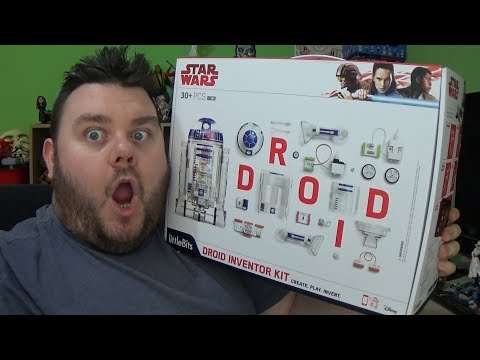 Star Wars Last Jedi Little Bits R2D2 Droid Inventor Kit Unboxing Toy Review