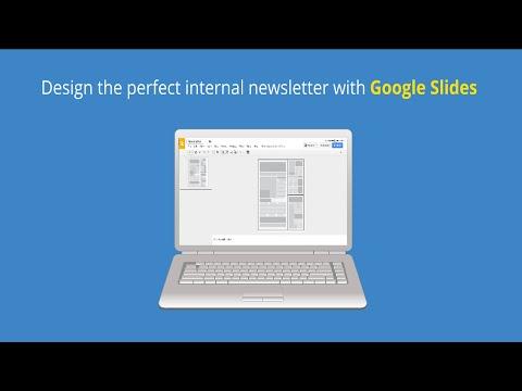 Design a Newsletter in Google Slides