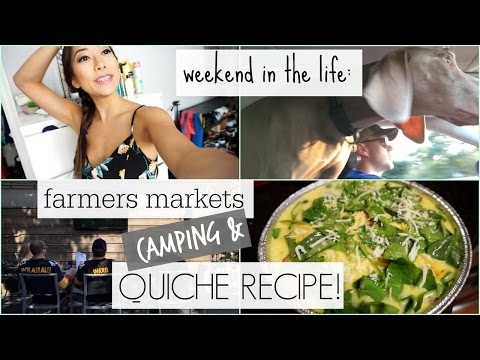 Weekend Vlog: Crustless Quiche, Camping, and Quick Glutes