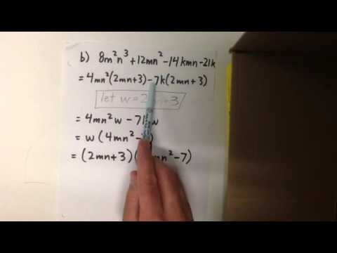 Factoring by grouping examples