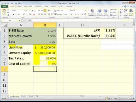 Excel IRR & Hurdle Rate