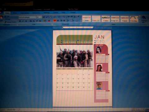 How to make a Calendar using Microsoft Word 2007