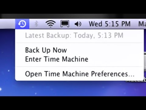 Time Machine icon missing from menu bar desktop Mac, how to activate/deactivate icon Yosemite OS X