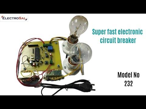 SUPER FAST ELECTRONIC CIRCUIT BREAKER