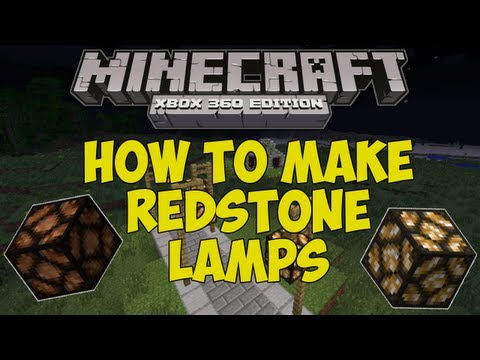 Minecraft: Xbox 360 - How To Make: Redstone Lamps! [TU12 Feature]