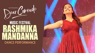 Rashmika Mandanna Dance Performance @ Dear Comrade Music Festival