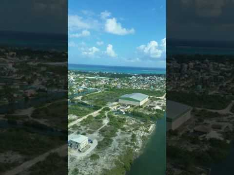 Flying into San Pedro Island Belize